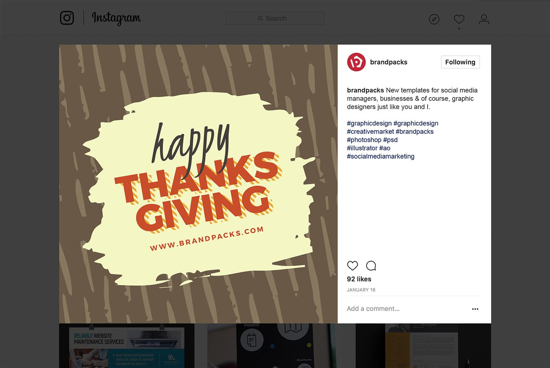 Thanksgiving Social Media Templates