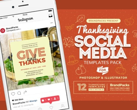 Thanksgiving Social Media Templates