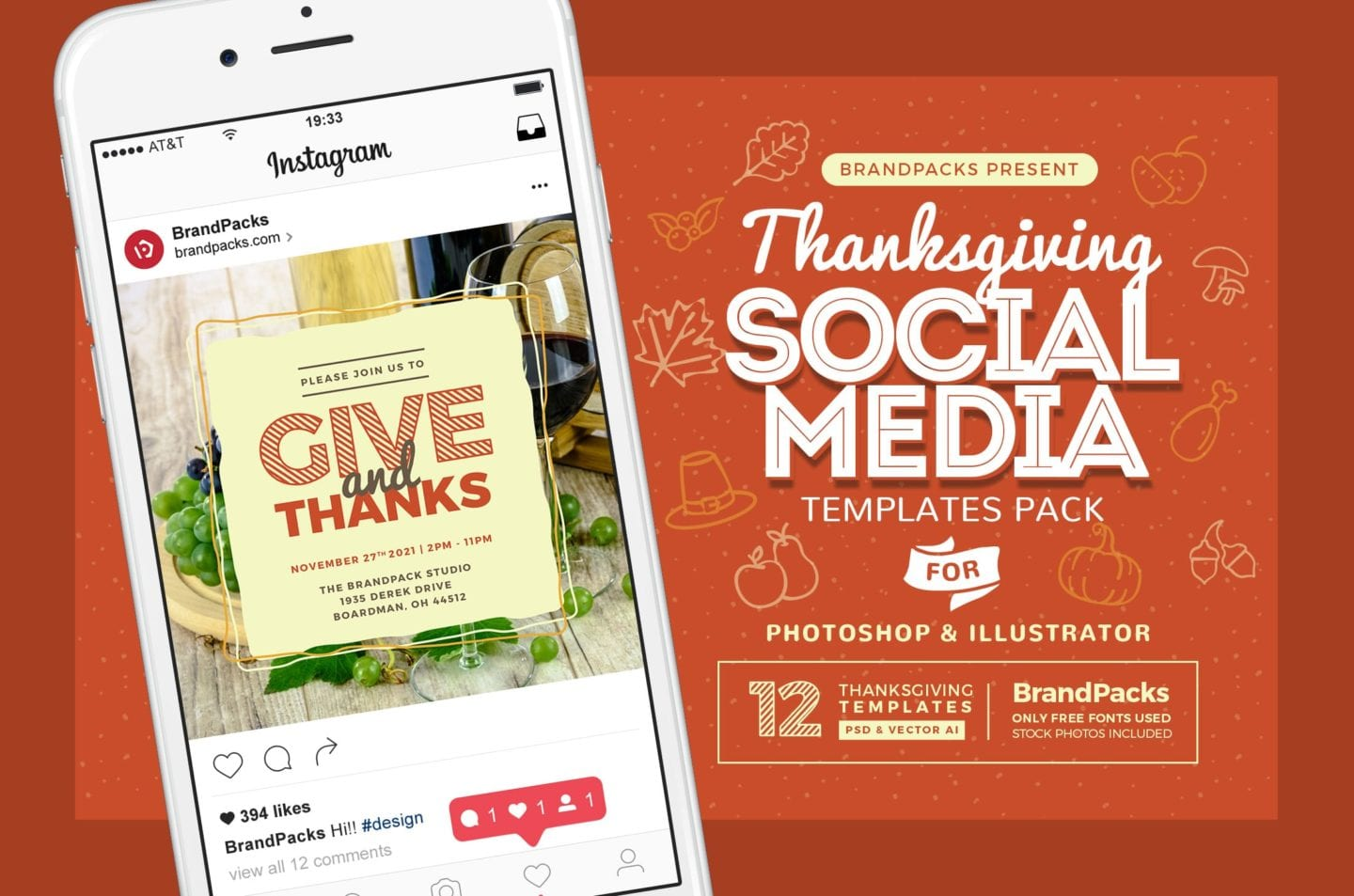 Social Media Template | Thanksgiving Social Media Templates Psd Ai Vector Brandpacks