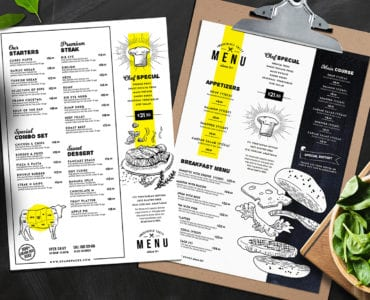 A4 Food Menu Template