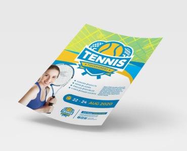 A4 Tennis Poster Template