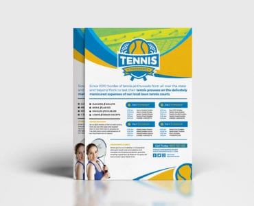 A4 Tennis Tournament Poster Template