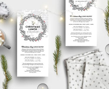 Christmas DL Menu Templates