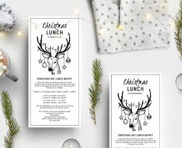 Christmas Lunch Flyer Templates