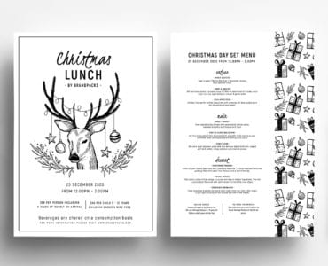 Christmas Lunch Menu Templates