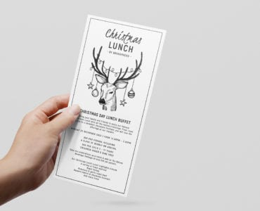 Christmas Lunch Rack Card Template
