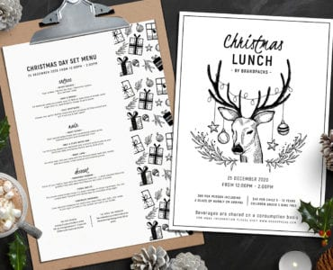 Christmas Menu Templates Vol. 2