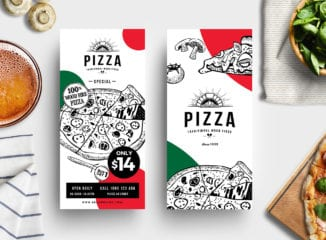 DL Pizza Menu Template