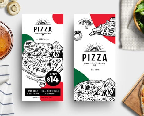 DL Pizza Menu Template
