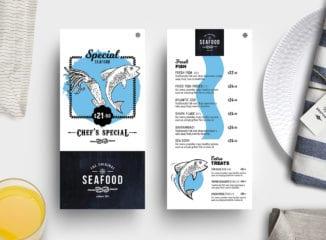 DL Seafood Menu Template