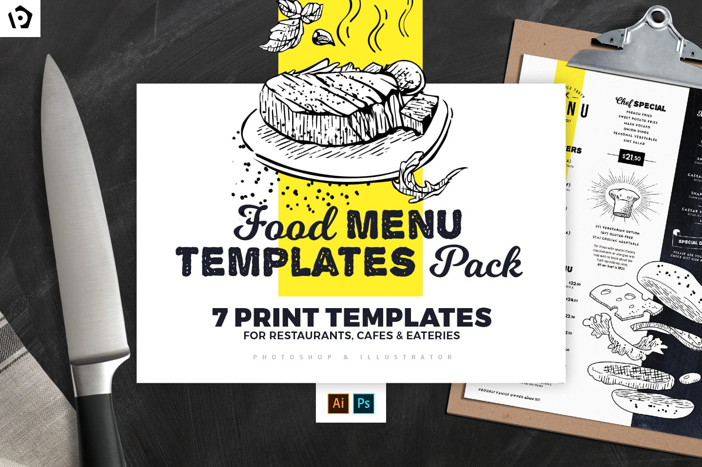 Food Menu Templates Pack