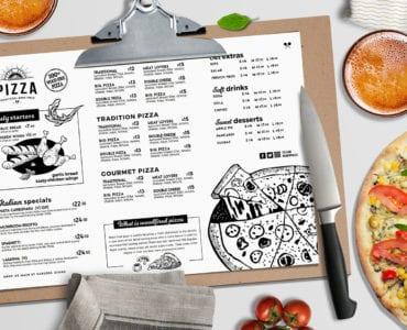 Landscape Pizza Menu Template