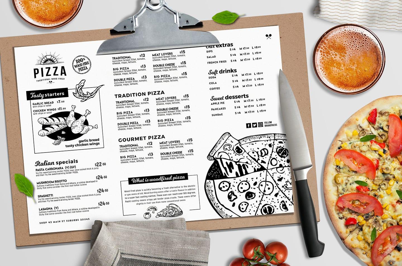 pizza menu templates in psd  ai  u0026 vector