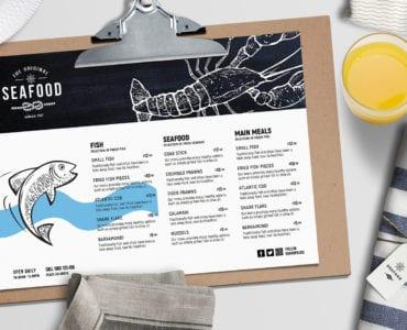 Landscape Seafood Menu Template