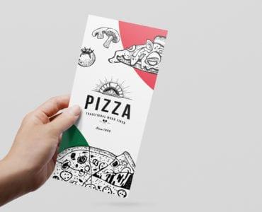 Pizza Menu Rack Card Template