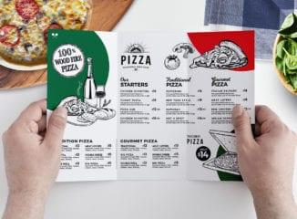 Pizza Menu Tri-Fold Template