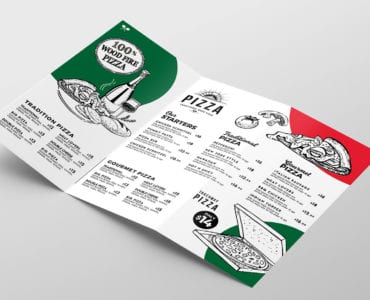 Pizza Menu Tri-Fold Template