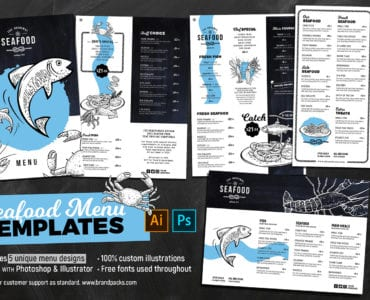 Seafood Menu Templates