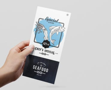 Seafood Rack Card Template