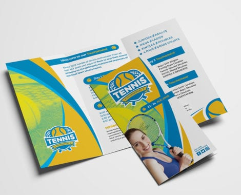 Tennis Brochure Template