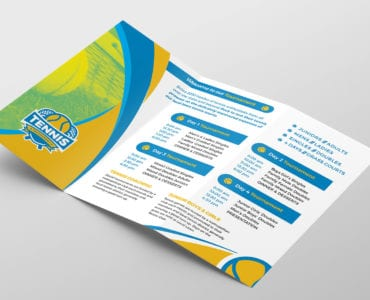 Tennis Brochure Template