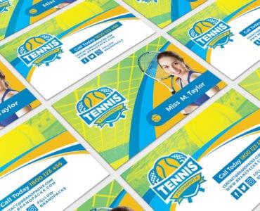 Tennis Coach Business Card Template