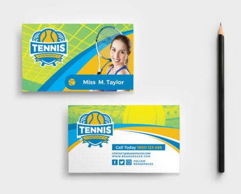 Tennis Coach Business Card Template