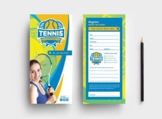 Tennis DL Card Template