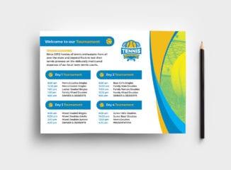 Tennis Event Flyer Template