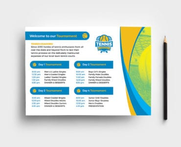 Tennis Event Flyer Template