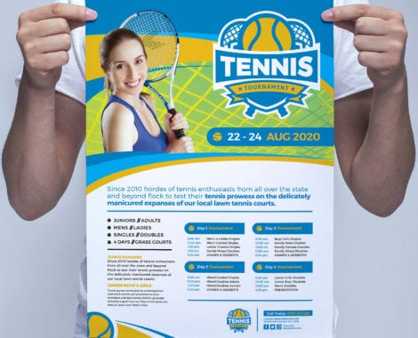 Tennis Poster Template