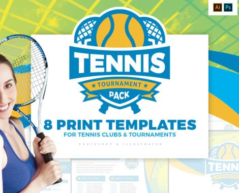 Tennis Tournament Templates Pack