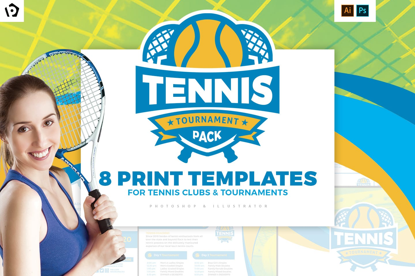 Tennis Lesson Flyer Template from brandpacks.com