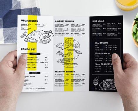 Tri-Fold Menu Template