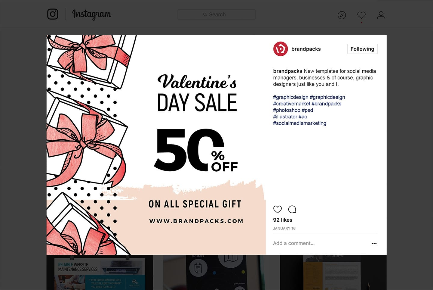 Valentine's Day Social Media Templates