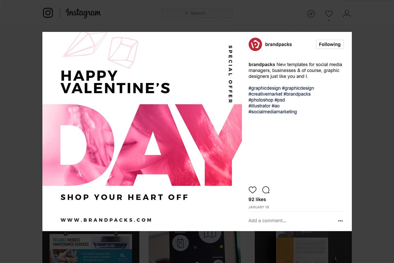 Valentine's Social Media Templates