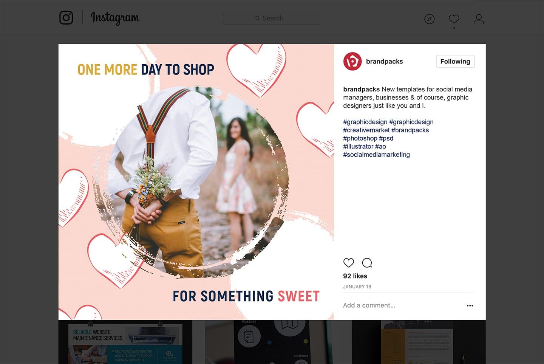 Valentines Instagram Template