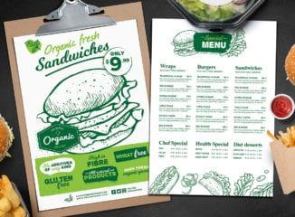 A4 Burger Menu Templates