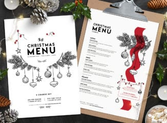 Christmas Menu Templates Vol.3
