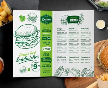 Folding Burger Menu Template