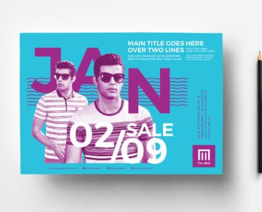 January Sale Poster Template