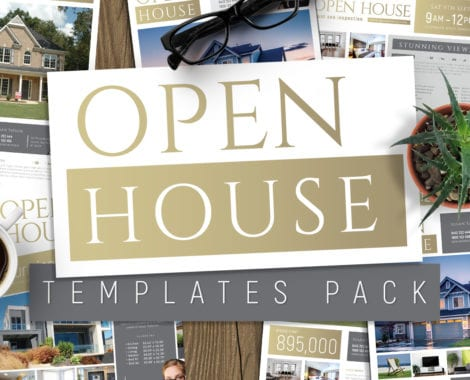 Open House Poster Templates Pack