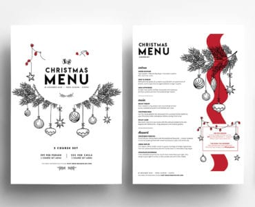 Simple Christmas Menu Templates