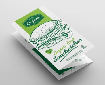 Tri-Fold Burger Menu Template Front