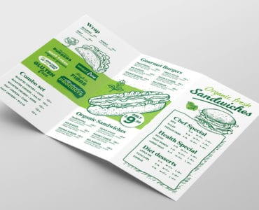 Tri-Fold Burger Menu Template Inside