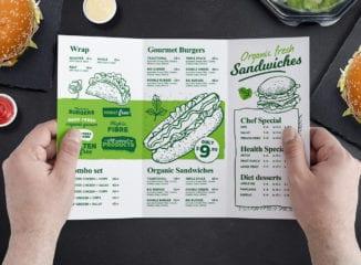 Tri-Fold Burger Menu Template