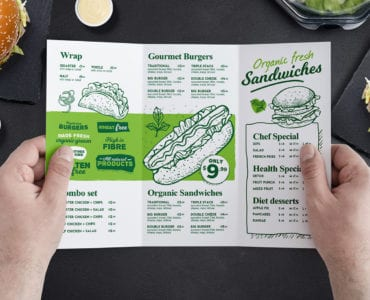 Tri-Fold Burger Menu Template