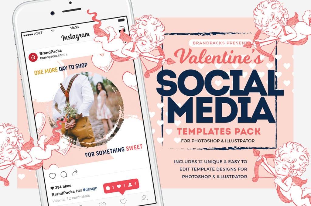 Valentines Instagram Templates Pack