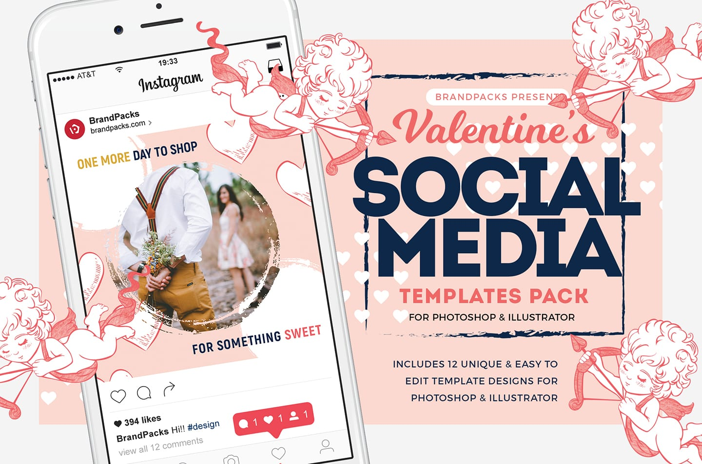 Valentines Instagram Templates Pack