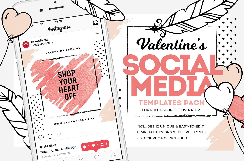Valentines Instagram Templates